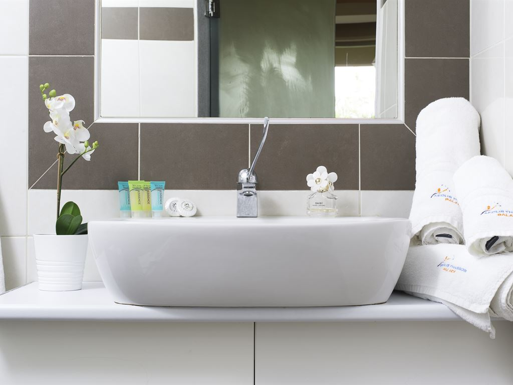 Aeolis Thassos Palace Hotel: Standard Bathroom