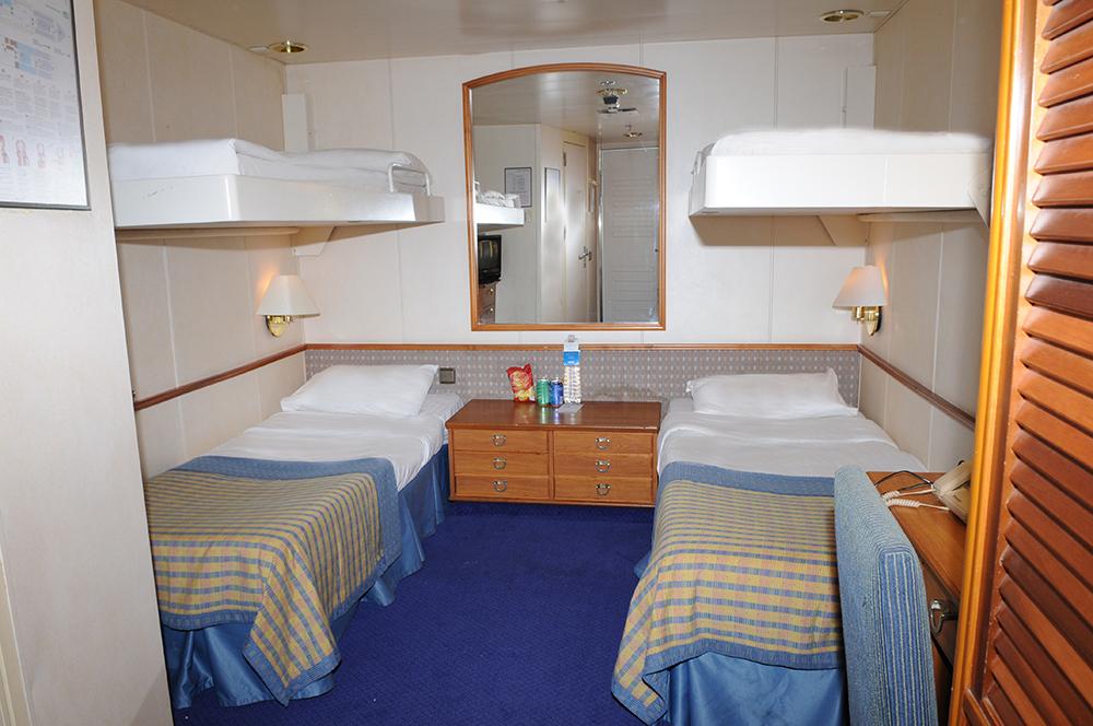 Celectyal Cruise Cristal 7 Nights: каюта IB 4 кровати