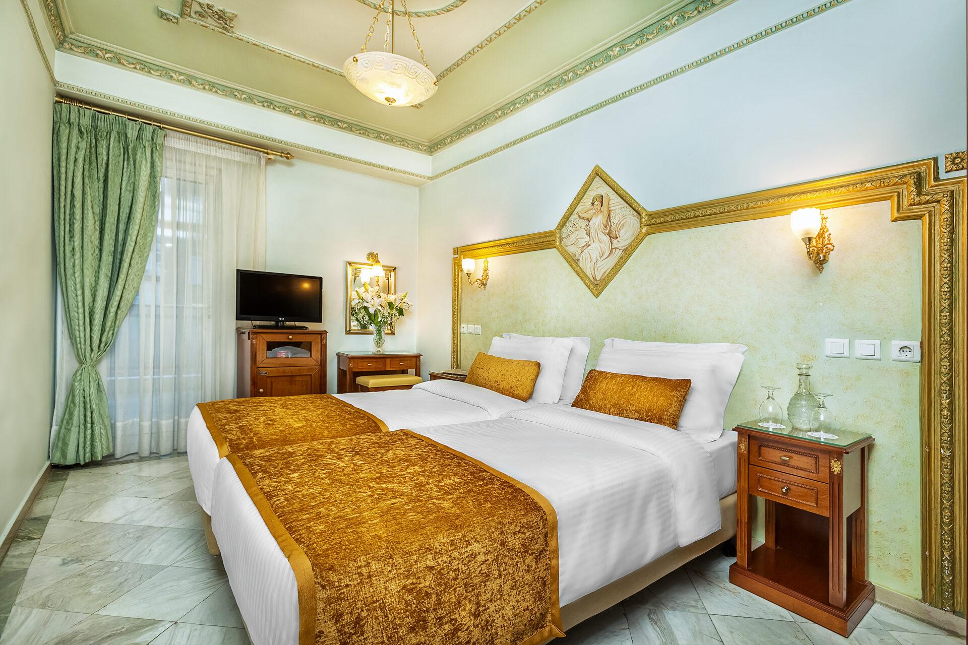 ad Imperial Palace Hotel Thessaloniki : Twins Standard Backyard