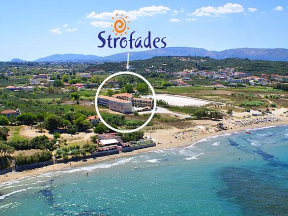 Strofades Beach Hotel: Aerial View